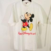 Vintage Walt Disney Mickey Mouse Florida White L Large White T-Shirt T Shirt Tee - $24.52