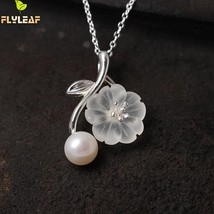 Flyleaf Sterling-silver-jewelry Crystal Plum Flower Necklaces & Pendants... - $27.28