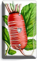Red Radis Gravure Phone Telephone Wall Plate Cover Vegetarian Kitchen Home Decor - $9.71