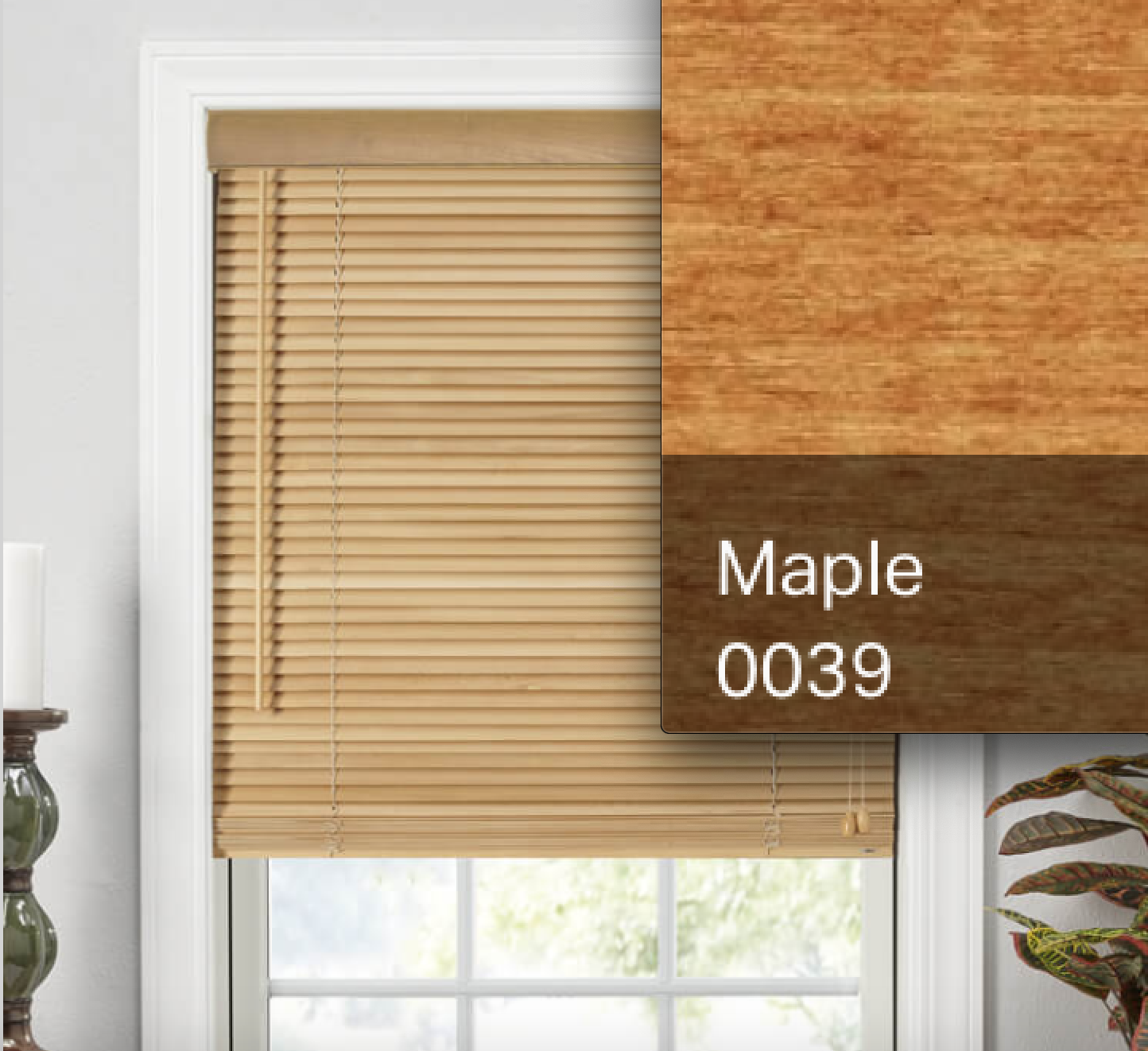 "Bali 1"" Northern Heights Wood Blinds Maple 23 3/4"" x 37 7/8"" window treatments"