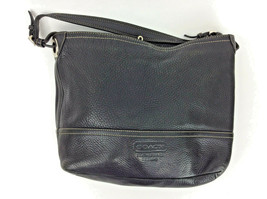 cf5edb52f72f Coach Black Pebbled Leather Tote Purse Hobo Bucket M052-5715 - £56.58 GBP