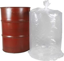 """100 Pack Low Density Clear Drum Liners 25"""" x 48"""" 15 Gal - $312.22"""