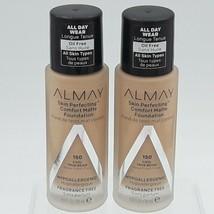 Lot of 2 Almay Skin Perfecting Comfort Matte Foundation, Cool True Beige - $16.83