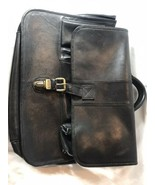 Vintage Ellington Leather Goods Attachie Briefcase black Messenger Bag - $65.55