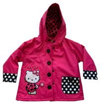 Western Chief Little Girls Hello Kitty Lady Bug Rain Jacket Watermelon R... - $22.99