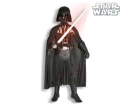 Kids Deluxe Star Wars Darth Vader Costume And Lightsaber Bundle Small 4-6  - $99.99