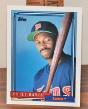 New Mint Topps trading card Baseball card 1992 Twins 118 Chili Davis - $1.48