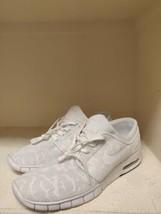 Nike Stefan Janoski Max White-White Obsidian 631303-114 Men's 10.5 Shoes - $74.24