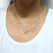 Mountain Range Heart Necklace Pendant image 3