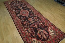 Tribal Wide Gallery Runner Persian Genuine Handmade 4x10 Black Sarouk Wool Rug image 2