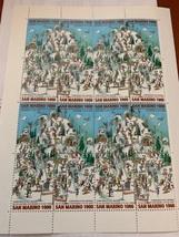 San Marino Skiing sheet 1997  stamps - $12.95