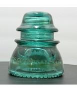 ANTQ Hemingray #42 Double Petticoat Glass Insulator Aqua Blue Green bead... - $15.52