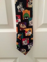 Looney Tunes Novelty Neck Tie Warner Bros 1997 Bugs Martian Porky Tasman... - $14.82