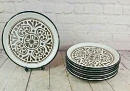 Set of 8 Vintage Dinner Plates by Noritake Folkstone New Santa Fe 8510 Japan - $103.94