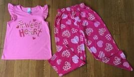 * Childrens Place pink sweet heart pajama long sleeve set pj jammies siz... - $7.43