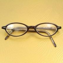 Emporio Armani 583 312 Brown Vintage 90s Small Oval RX Eyeglass Frames 4... - $29.69