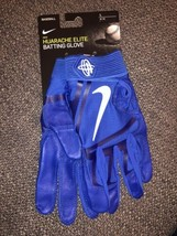 Nike Huarache Elite Baseball Batting Gloves Royal Blue/White PGB643-468 Size L - $45.00