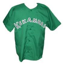 G-Baby #1 Kekambas Hard Ball Movie Baseball Jersey Button Down Green Any Size image 1