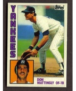 DON MATTINGLY Rookie Card RP #8 Tiffany RC 1984 T Free Shipping - $2.95