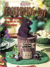 Plastic Canvas Spring Groundhog Day Centerpiece Plant Cozy Hanging Patterns - $12.99