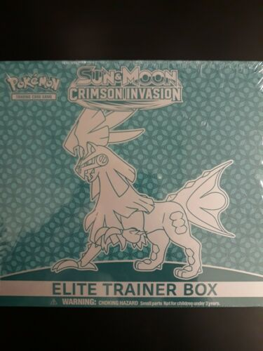 POKEMON TCG SUN AND MOON CRIMSON INVASION ELITE TRAINER BOOSTER SET BOX SEALED