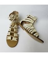 J Crew Womens Shoes Sandals Flats Back Zipper Gladiator Cream New Size U... - $64.30