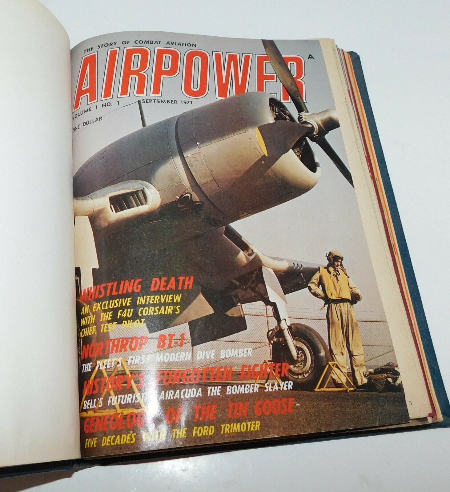 Primary image for AIRPOWER Combat Aviation Bound Magazines 1971 - 1972 Bombers Jets
