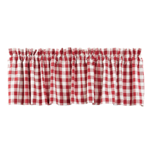 BUFFALO RED CHECK Valance Lined - 16x72 - Country Red/Cotton White - VHC Brands