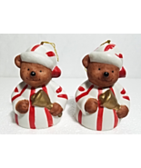 Vintage Porcelain Bear Bell Ornaments  X  2--Giftco, Inc. 1985--Taiwan - $9.00