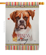 Boxer Happiness - Impressions Decorative House Flag H110160-BO - $40.97
