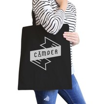 Camper Black Canvas Bag Cute Design Gift Ideas For Camping Lovers - $15.99