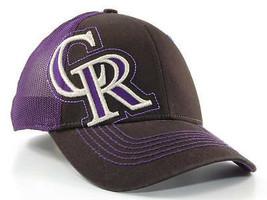 Colorado Rockies New Era 39Thirty MLB Baseball Rake Stretch Fit Cap MED/LG - €18,36 EUR