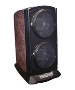 New Double Diplomat Automatic Double Dual Watch Winder Tower Burlwood ... - $68.35