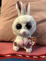 "TY Beanie Boos 6"" SLIPPERS White Easter Bunny Rabbit Stuffed Toy Plush New - $14.95"