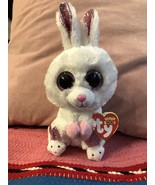 """TY Beanie Boos 6"""" SLIPPERS White Easter Bunny Rabbit Stuffed Toy Plush New - $14.95"""