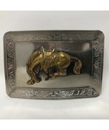VTG Bucking Mustang Buckle Rodeo Cowboy Western Rancher Riding West - $34.64
