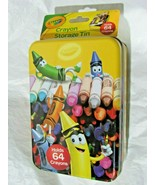 Storage Tin Hold 64 Crayola Crayons Not Included by The Tin Box Company - $14.99