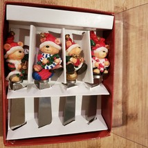 Xmas Bear Spreadables, set of 4, Christmas spreaders cheese knife, butter knives image 8