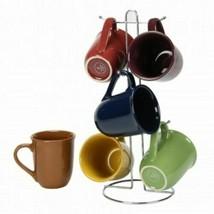 Gibson Home Cafe Amaretto 7 -Piece Mug Set With Wire Rack - $39.55