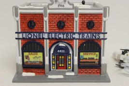 LIONEL DEPT 56- RETIRED-  ELECTRIC TRAIN SHOP- SNOW VILLAGE- BOXED - NEW... - $146.02