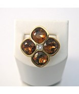 Rebecca Ring with Four Brown Swarovski Crystals - $170.17