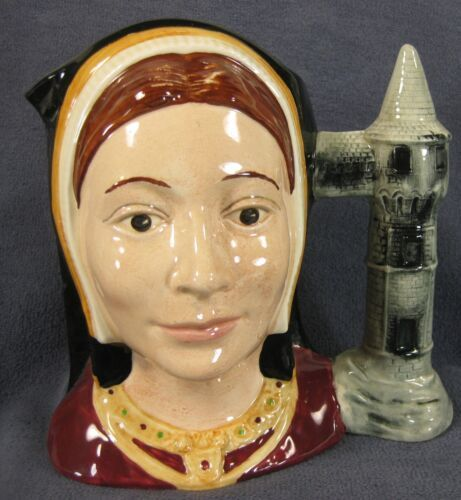 "Catherine Of Aragon D6643 Royal Doulton Character Toby Jug Large 7"" 17.78cm"