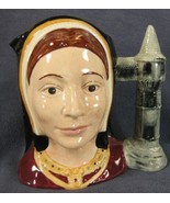 "Catherine Of Aragon D6643 Royal Doulton Character Toby Jug Large 7"" 17.7... - $69.99"
