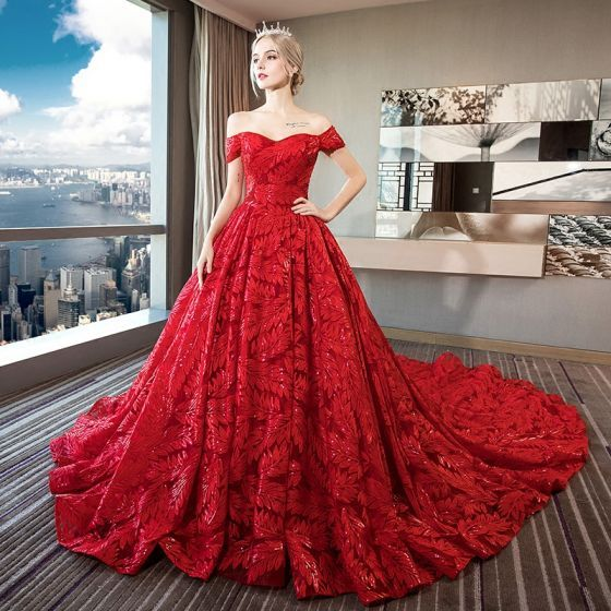 Stunning Red Lace Wedding Dresses Ideas - Styles & Ideas 2018 - sperr.us