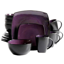 Gibson Soho Lounge Square 16-piece dinnerware set Purple - $82.88