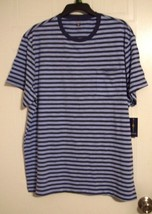 Club Room Men's Blue Striped Short Sleeve Crewneck Pocket T-Shirt - Size: L - £9.65 GBP