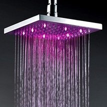 12 Inch Chromed Brass Square LED Rain Shower Head (0913 -8106) - $237.55