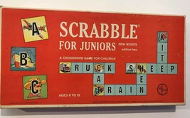 Scrabble For Juniors 1964 New Words Edition Two Complete Vintage Set - $19.80
