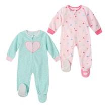 Absorba Little Girls' 2 Piece Sleepwear, Hearts Size 4T Pink and Green - $29.69