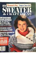 Vintage Womans Day 101 Sweater & Craft Ideas Feb 1988 Bear Designer Swea... - $3.95